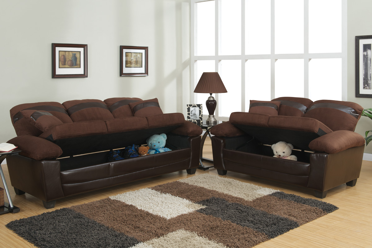 tan leather sofa and loveseat printed fabric sets gabe brown set with storage