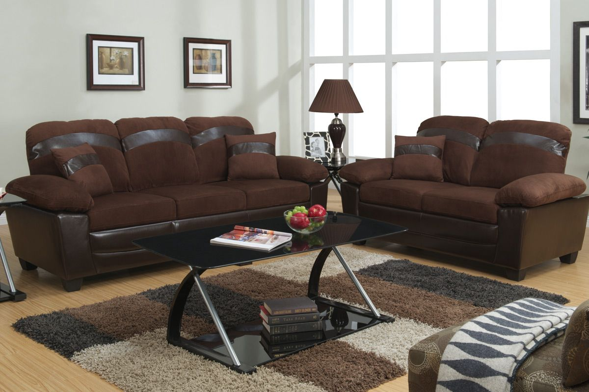 tan leather sofa and loveseat queen size sleeper with air mattress brown set storage steal a