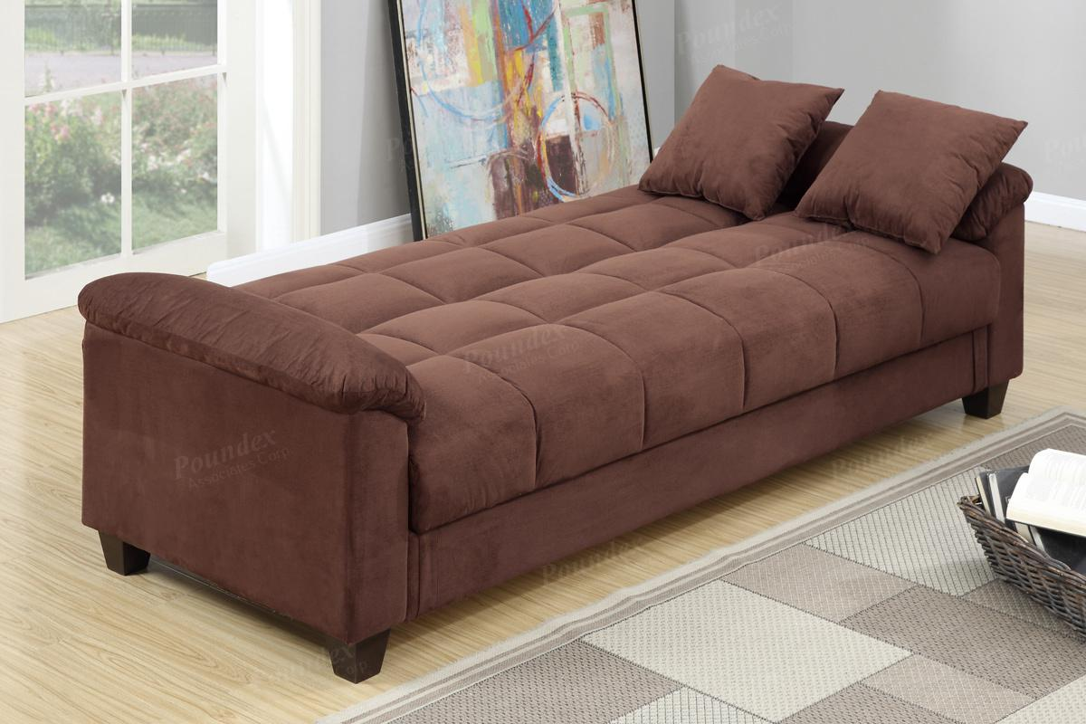 Brown Fabric Sofa Bed  StealASofa Furniture Outlet Los Angeles CA