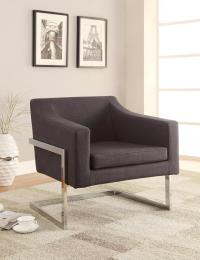 Grey Metal Accent Chair - Steal-A-Sofa Furniture Outlet ...