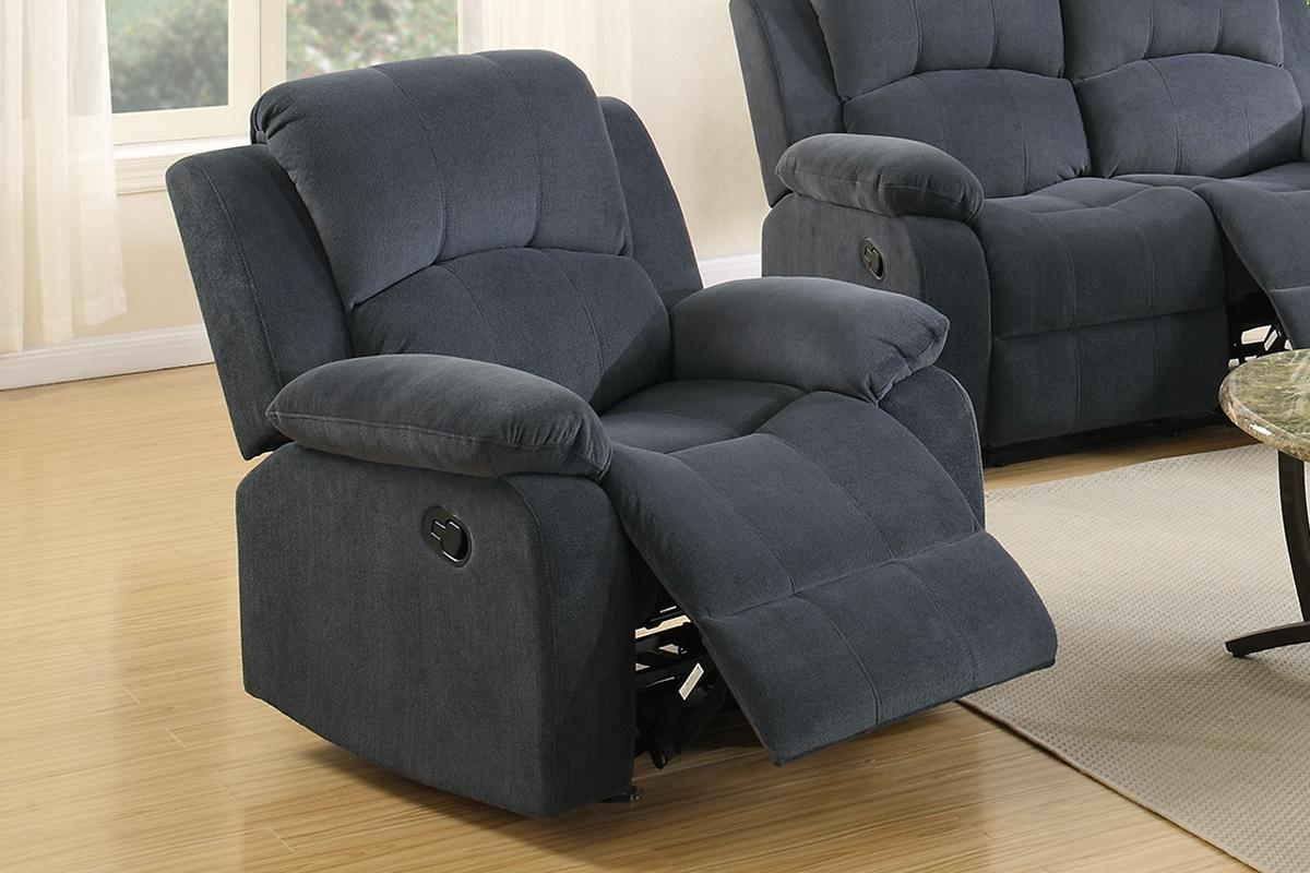 Gray Recliner Chair Grey Fabric Rocker Recliner Chair Steal A Sofa Furniture