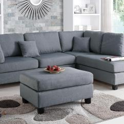 Grey Large L Shaped Sofa Wooden Furniture Set Designs Fabric Sectional And Ottoman Steal A