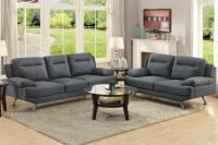 Grey Fabric Sofa and Loveseat Set