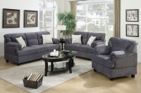 Grey Wood Sofa Loveseat and Chair Set - Steal-A-Sofa ...