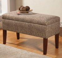 Beige Fabric Storage Bench - Steal-A-Sofa Furniture Outlet ...