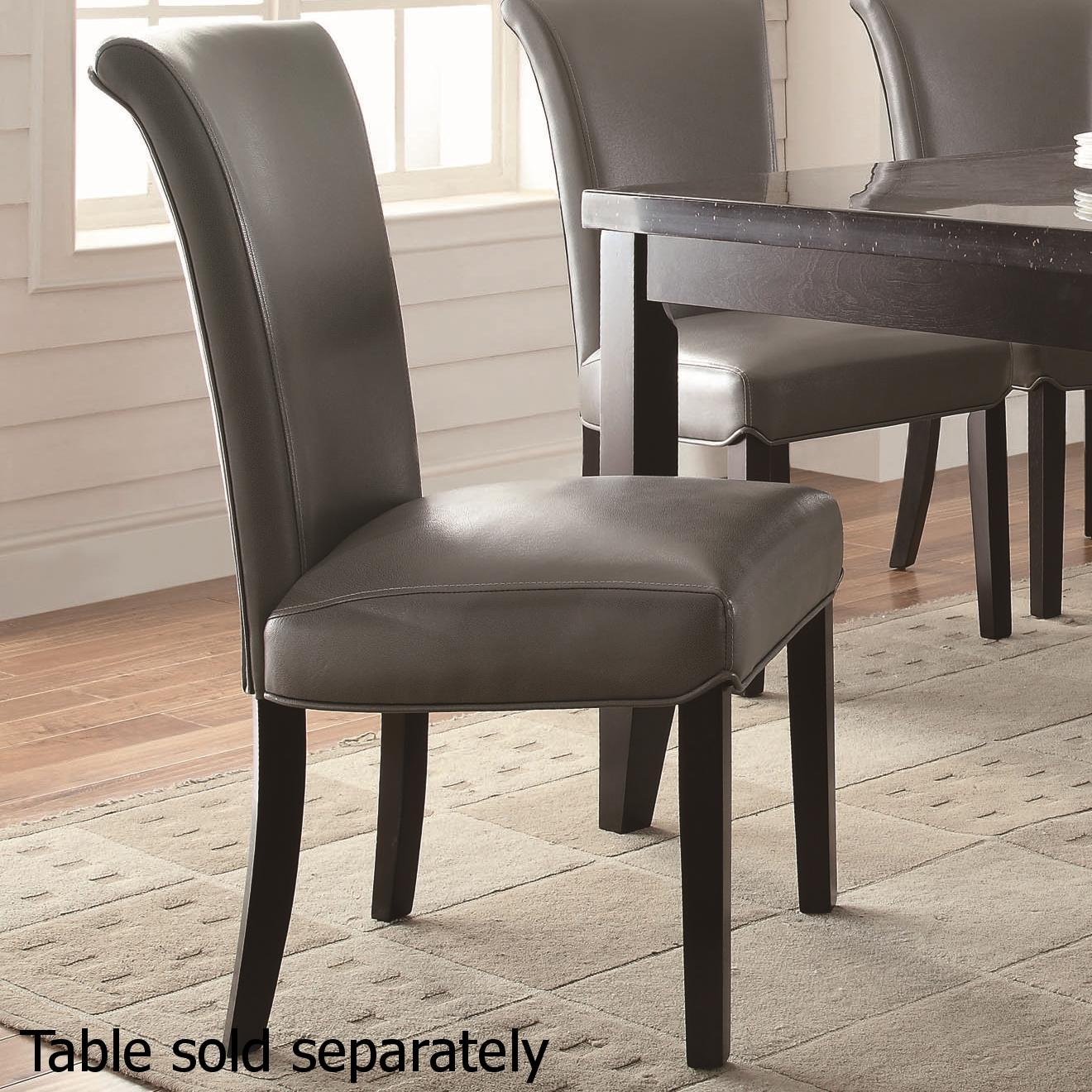Grey Wood Dining Chairs Grey Wood Dining Chair Steal A Sofa Furniture Outlet Los