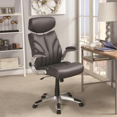 Grey Leather Desk Chair Covers For Patio Furniture Office Steal A Sofa Outlet
