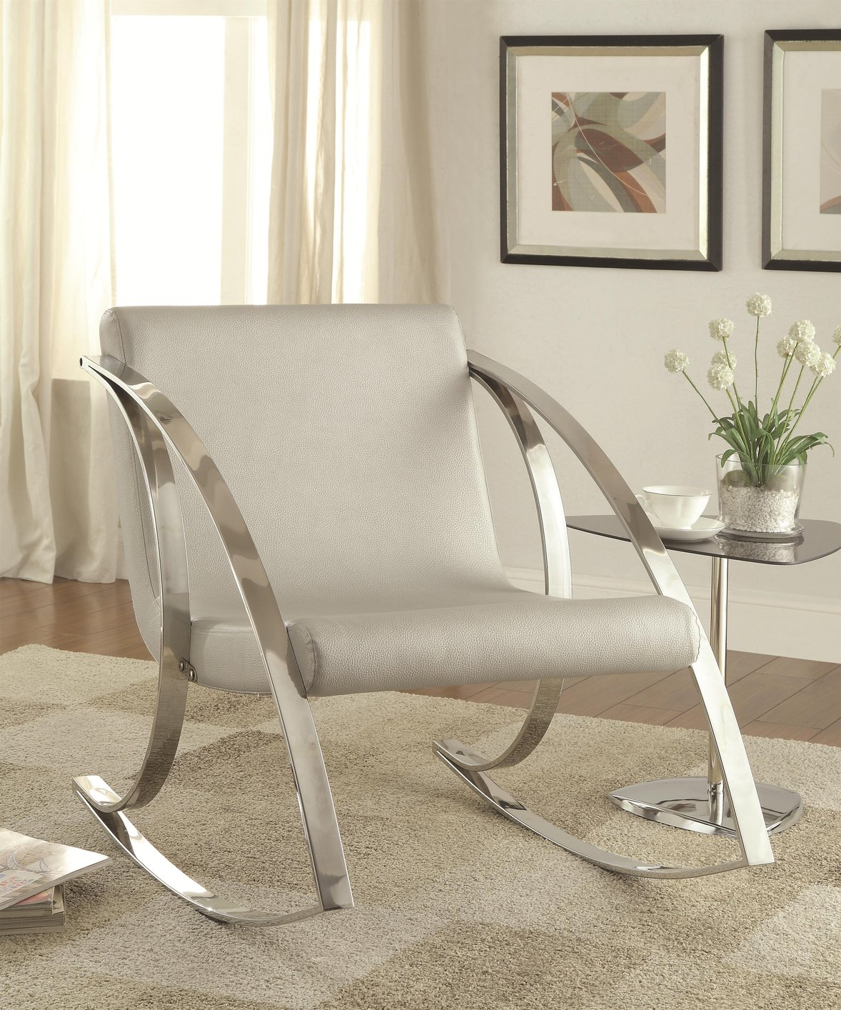 Grey Rocking Chair Grey Metal Rocking Chair Steal A Sofa Furniture Outlet