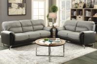 Grey Leather Sofa And Loveseat Grey Leather Sofa And ...