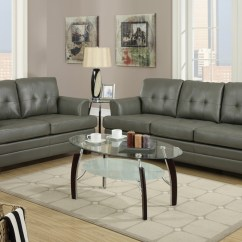 Sofa And Loveseat Set Up Genuine Leather Corner Bed With Storage Grey Steal A