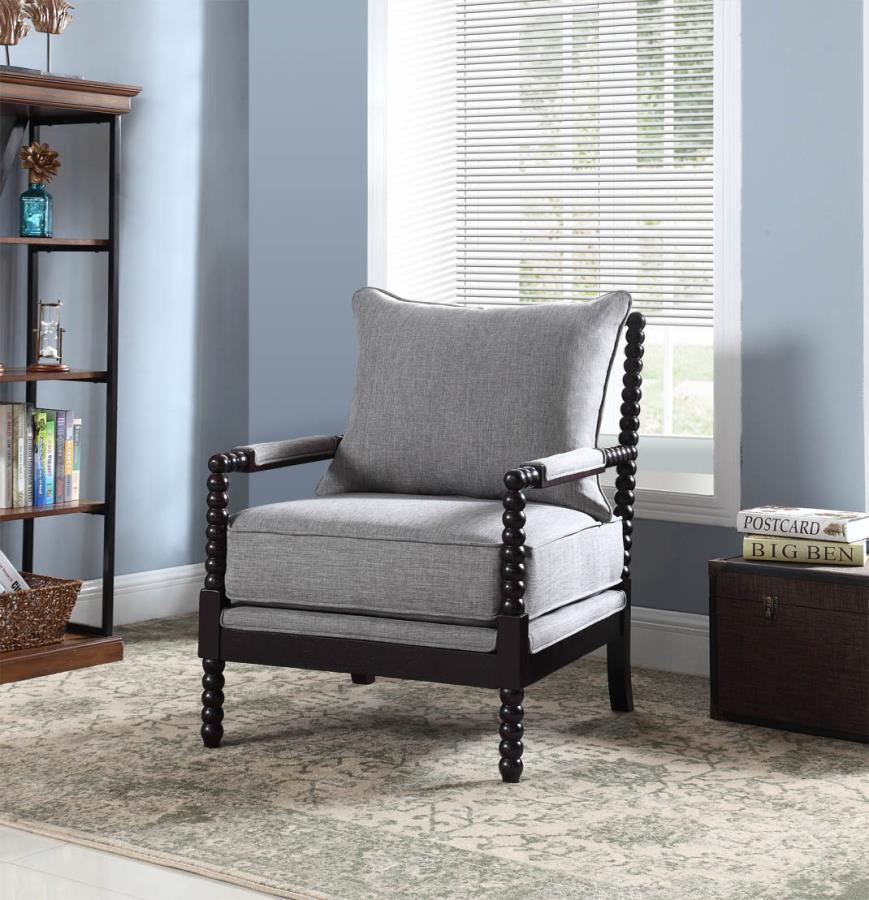 Grey Wood Accent Chair  StealASofa Furniture Outlet Los
