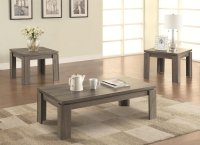 Grey Wood Coffee Table Set - Steal-A-Sofa Furniture Outlet ...