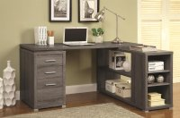 Grey Wood Office Desk - Steal-A-Sofa Furniture Outlet Los ...