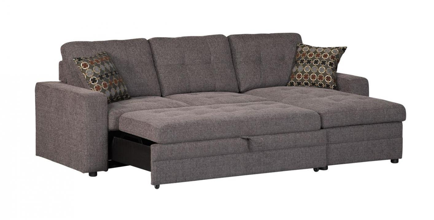 Gus Black Fabric Sectional Sleeper Sofa Steal A Sofa