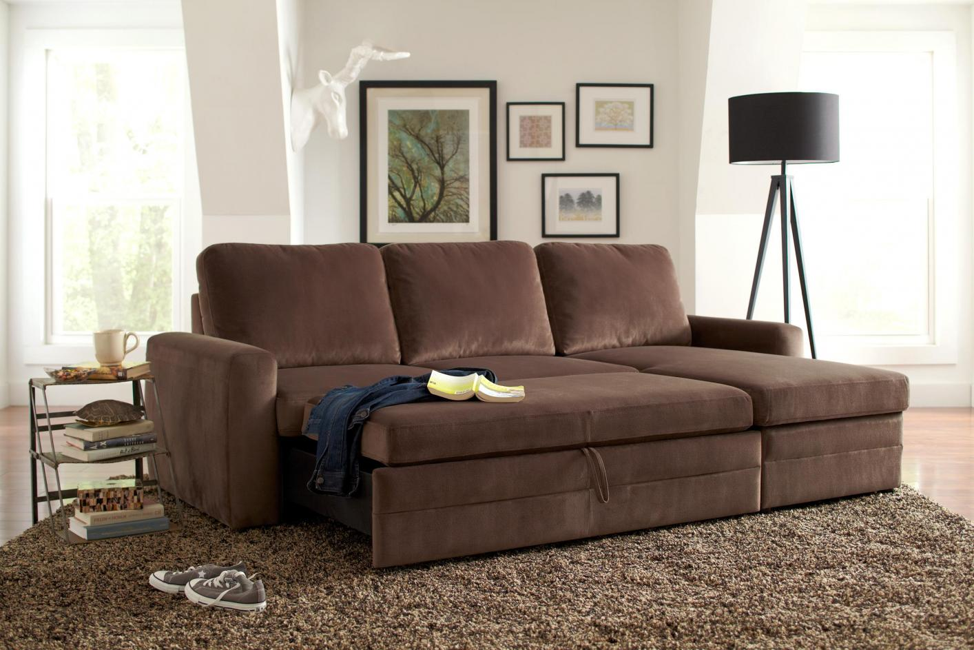 brown sectional sleeper sofa sofas with recliners ashley gus fabric steal a furniture