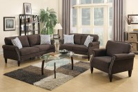 Hypnos Brown Fabric Sofa Loveseat and Chair Set - Steal-A ...