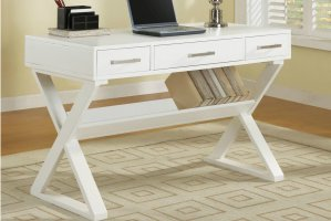White Wood Office Desk   Steal A Sofa Furniture Outlet Los ...