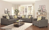 Kelvington Grey Fabric Reclining Sofa and Loveseat Set ...