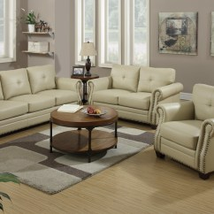 Beige Sofa Set Cheap Faux Leather And Loveseat Steal A Furniture Outlet Los Angeles Ca