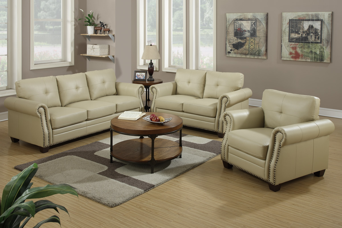 sofa and loveseat set up dining room ideas beige leather vg71 sofas