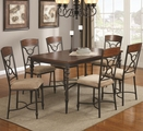 stealasofa reviews electric recliner sofas leather klaus cherry metal and wood dining table set - steal-a ...