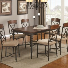 Metal Kitchen Table Sets Corner Cabinet Klaus Cherry And Wood Dining Set Steal A Sofa