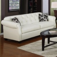 Beige Leather Sofas Kristyna Beige Leather Sofa Steal A ...