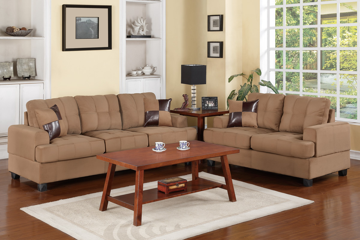 sofa and loveseat set up signature by ashley hillspring kyler beige fabric steal a