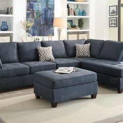 Blue Sofa White Piping Velour Cleaning Fabric Sofas Royal Love Seat