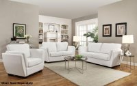 Lois White Leather Sofa and Loveseat Set - Steal-A-Sofa ...