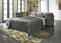 Maier Grey Fabric Sectional Sleeper Sofa - Steal-A-Sofa ...