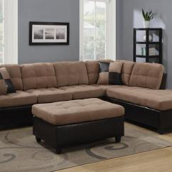 Beige Microfiber Sectional Sofa With Storage Chaise Art Deco Leather Roselawnlutheran
