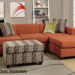 Los Angeles Sectional Sofa Maverick Reclina Way Leather Orange Fabric - Steal-a-sofa Furniture ...