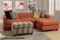Orange Fabric Sectional Sofa - Steal-A-Sofa Furniture ...