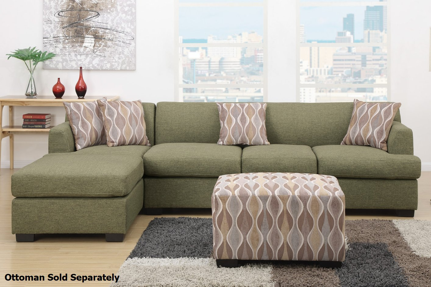 best fabric sectional sofa cheap l shaped philippines montreal iii green steal a