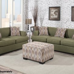 Living Room Sofa And Loveseat 45 Degree Angled Sectional Montreal Green Fabric Set Steal A