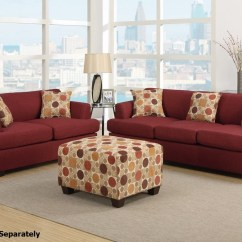 Sofa And Loveseat Set Up Sleeper Black Friday 2018 Montreal Red Fabric Steal A