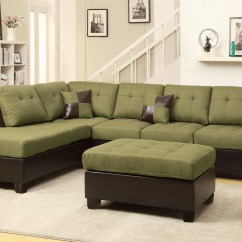 Sofa And Ottoman Victorian Scroll Arm Green Leather Sectional Steal A