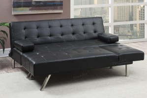 Black Leather Sectional Sofa Bed   Steal A Sofa Furniture ...