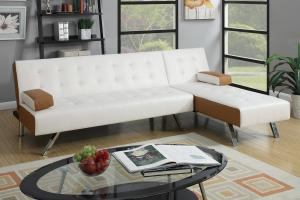 White Leather Sectional Sofa Bed   Steal A Sofa Furniture ...
