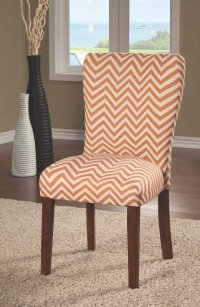 Orange Fabric Dining Chair - Steal-A-Sofa Furniture Outlet ...
