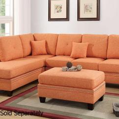 Orange Fabric Sectional Sofa L Shaped Sets In Bangalore Steal A Furniture
