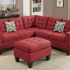 Orange Fabric Sectional Sofa How To Remove Water Stain From Microfiber Red And Ottoman Steal A
