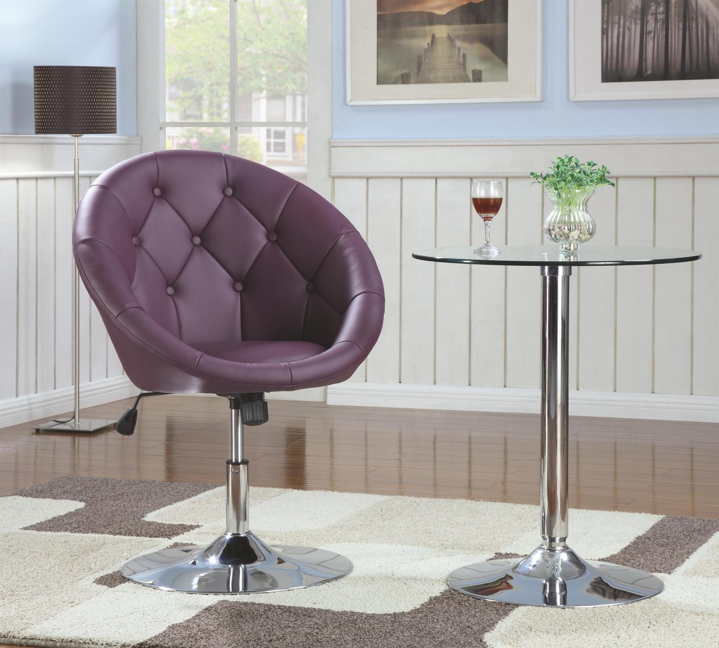 purple swivel chair wheelchair toy metal steal a sofa furniture outlet