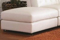 White Leather Ottoman - Steal-A-Sofa Furniture Outlet Los ...