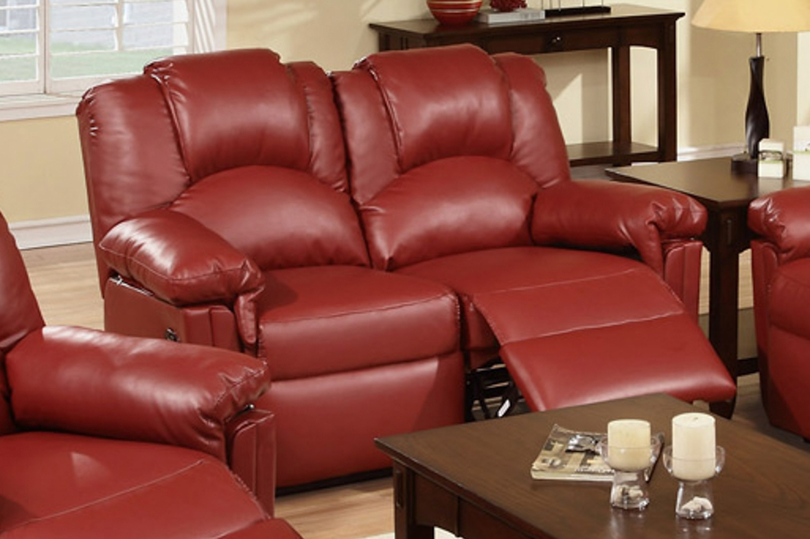 baseball leather sofa sure fit stretch pique 2 pc slipcover recliner love seat vivienne dark brown