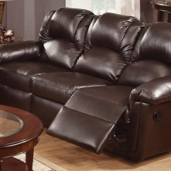 Reclining Sofa Leather Brown Sectional Ashley Steal A Furniture