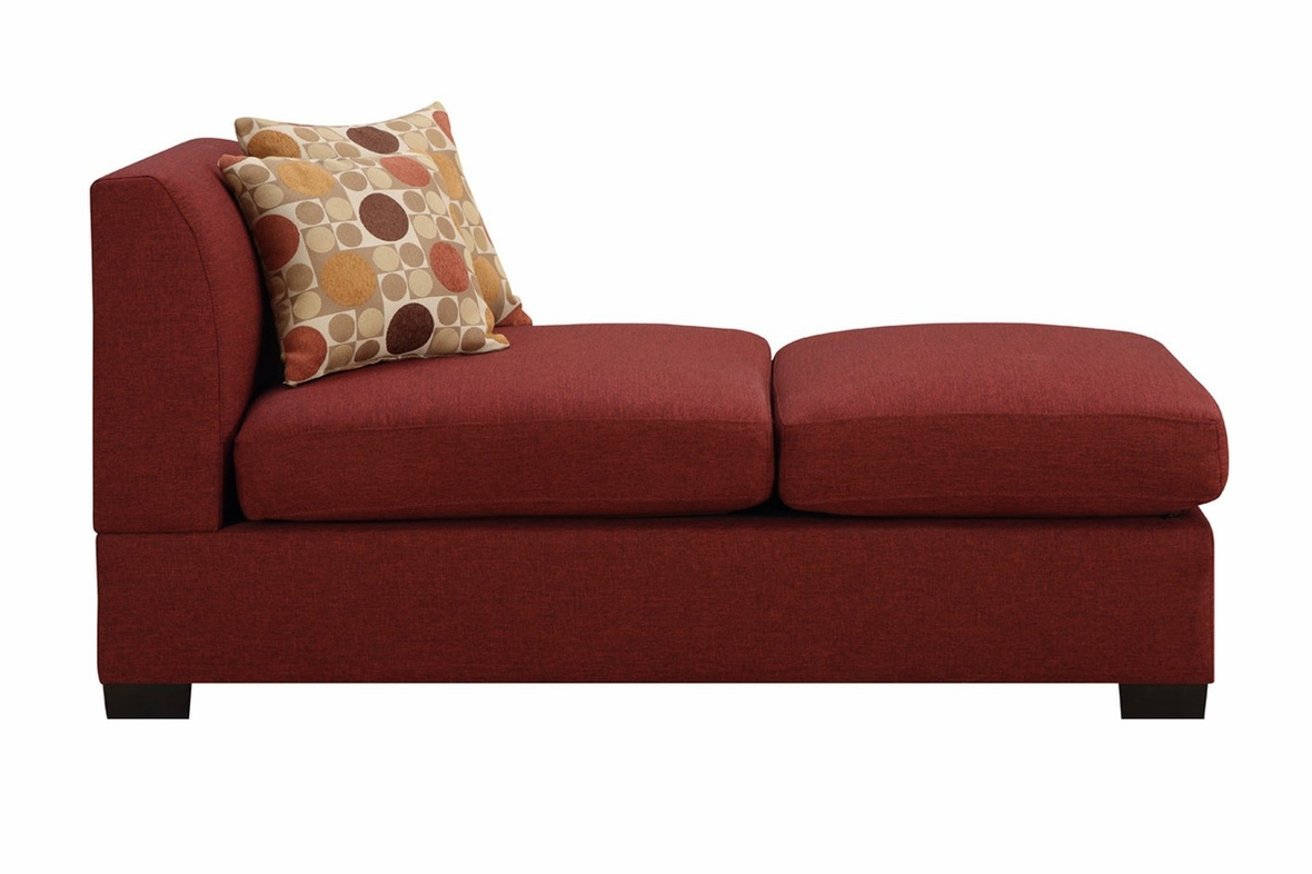 red sectional sofa chaise leather nailhead trim lounge with
