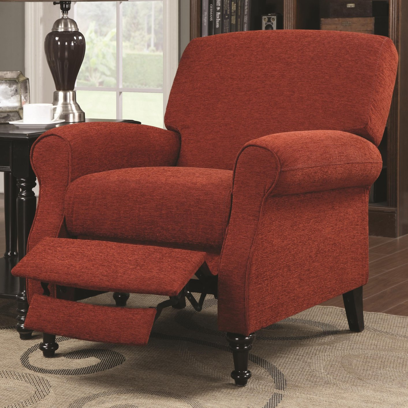 Red Fabric Reclining Chair  StealASofa Furniture Outlet