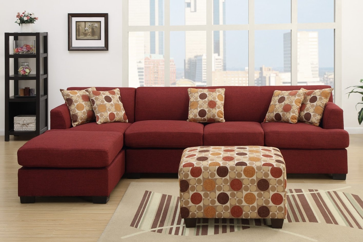 red fabric sofa 3 seater set online in india montreal iv steal a furniture